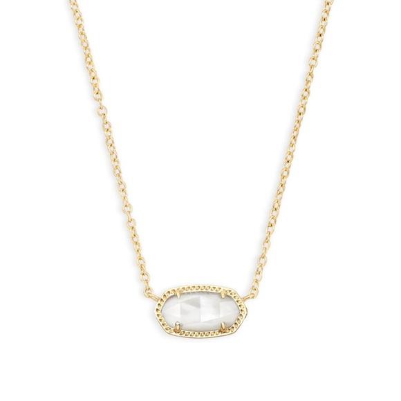 791b0faae1f69 Kendra Scott Elisa Gold Pendant. Ivory Pearl